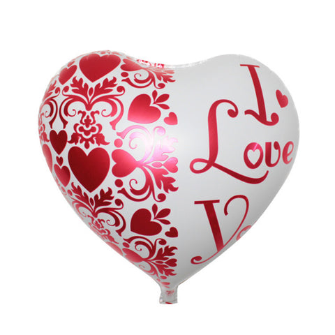 I Love You 17inches 2 Sides Heart SuperShape Foil Balloon