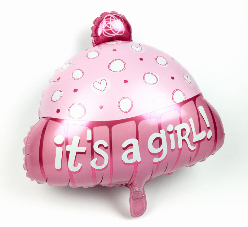 Its a Girl Cap 18 Inches Foil Balloon