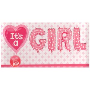 Its a Girl (Set) Foil Balloons