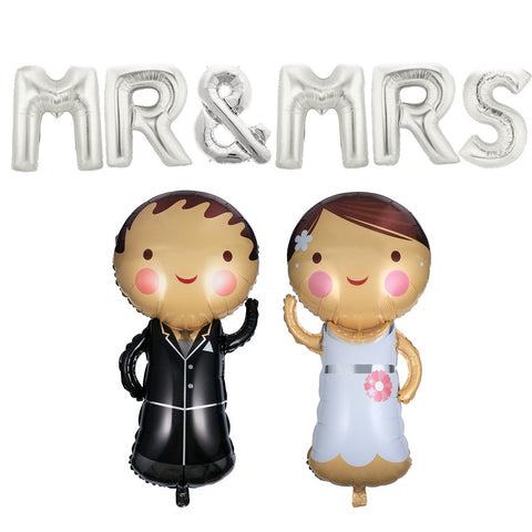 Mr. & Mrs. Foil Balloons (Set of 8 pcs.)