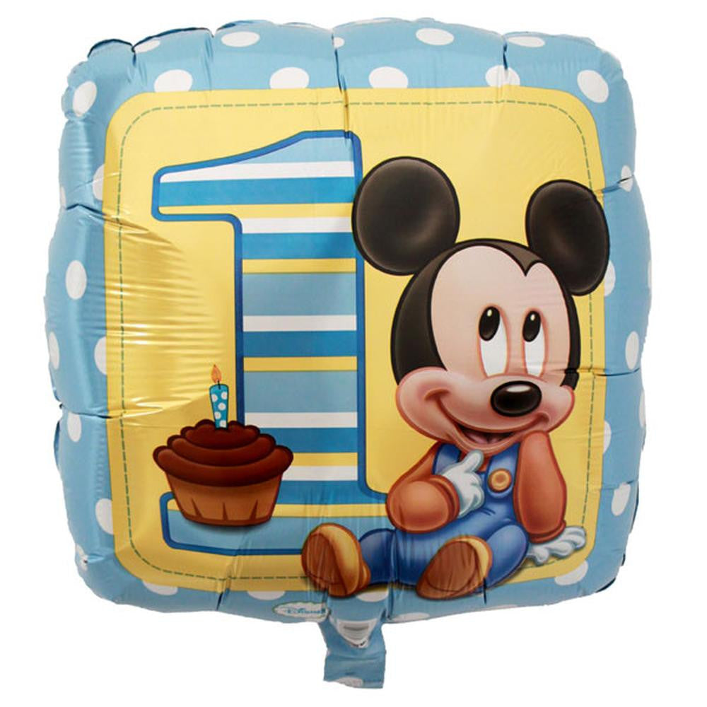 Mickey Mouse 1st Birthday 18 inches Foil Balloon
