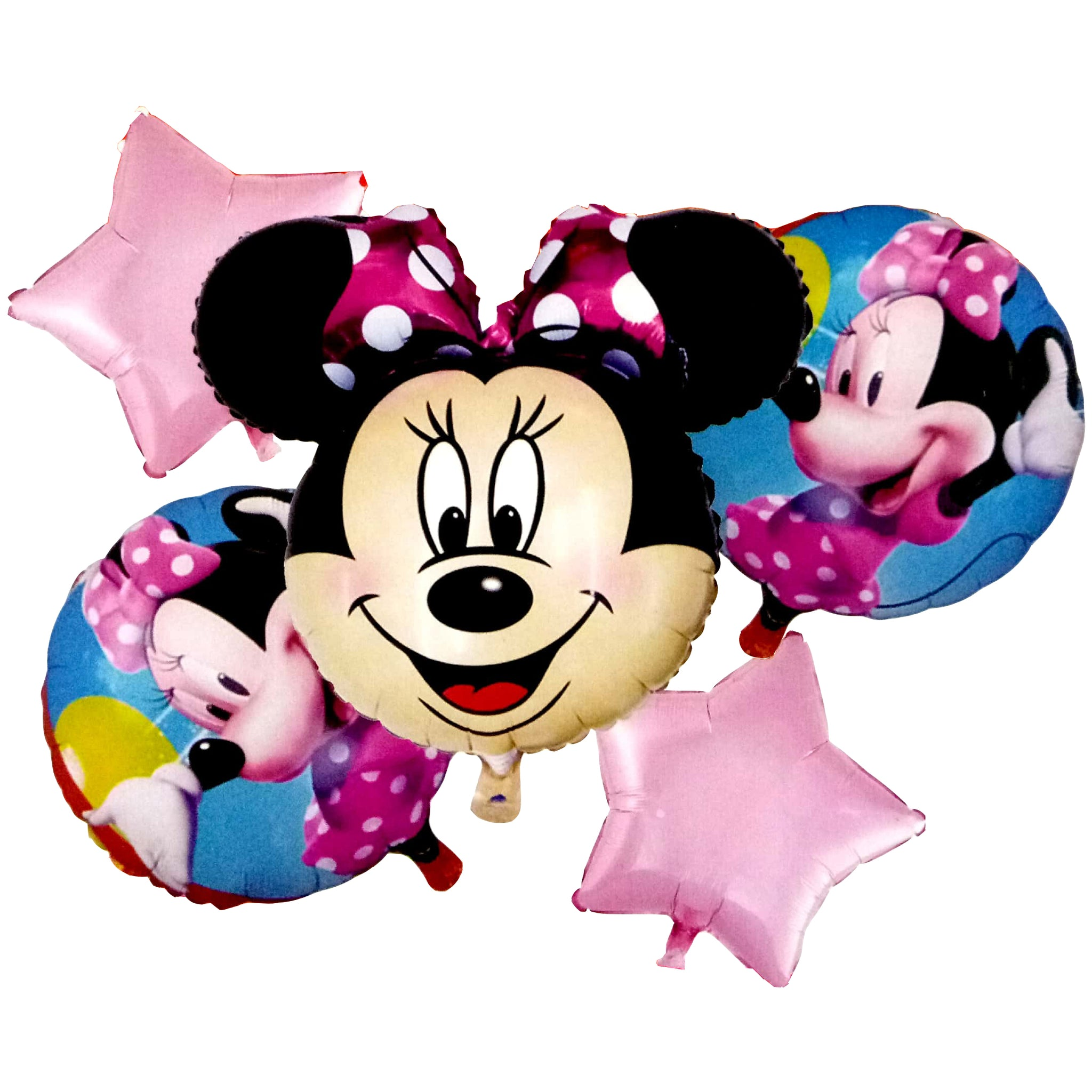 Minnie Mouse Face Jumbo Foil Balloons (Set of 5pcs.)
