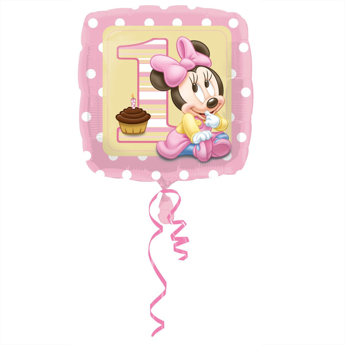 Minnie Mouse 1st Birthday 18 inches Foil Balloon