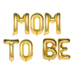 Mom to Be Text Foil Balloons for Baby Announcement / Baby Shower Party Decoration
