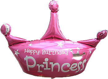 Princess Crown 34 inches Foil Balloon