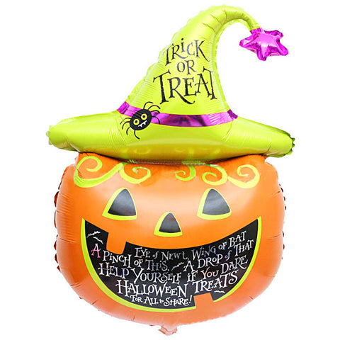 34 inch Pumpkin Hat Halloween Foil Balloon