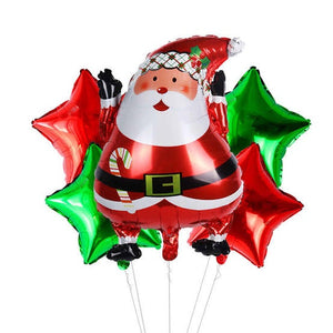 Santa Claus & Reindeer Foil Balloon for Christmas Decor