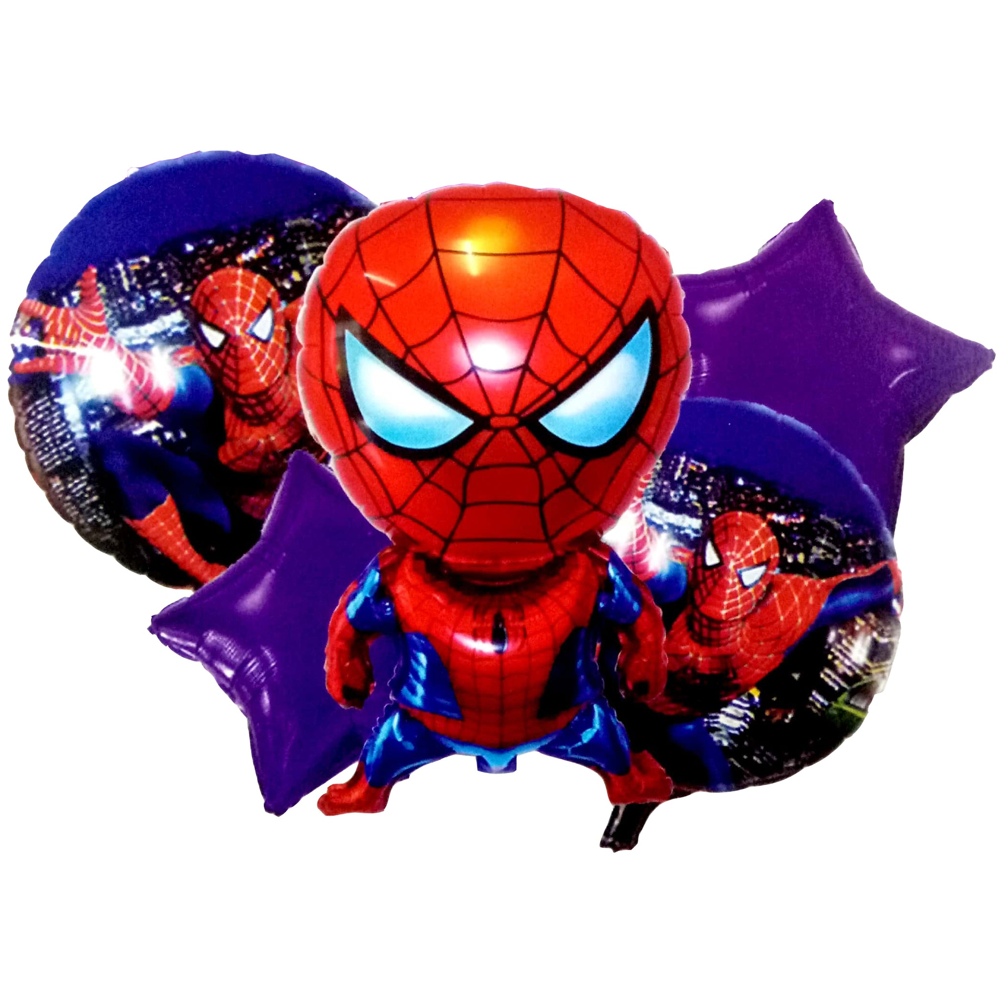Spiderman Jumbo Foil Balloons (Set of 5pcs.)