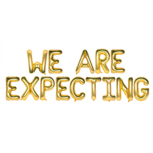 We are Expecting Text Foil Balloons for Baby Announcement / Baby Shower Party Decoration