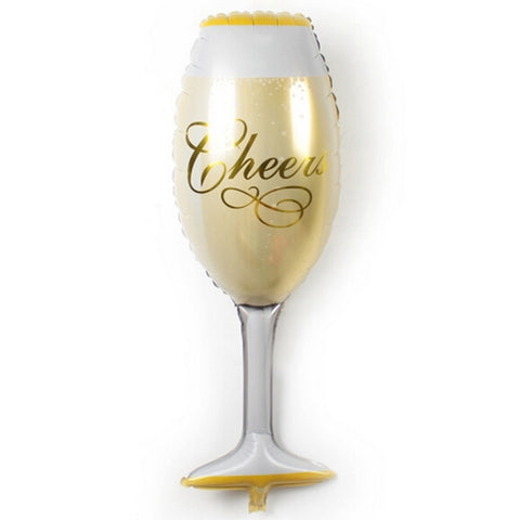 36 inch Wine Glass Foil Balloon