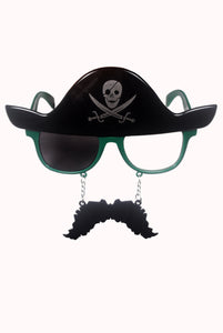 Pirate Moustache Green Goggle