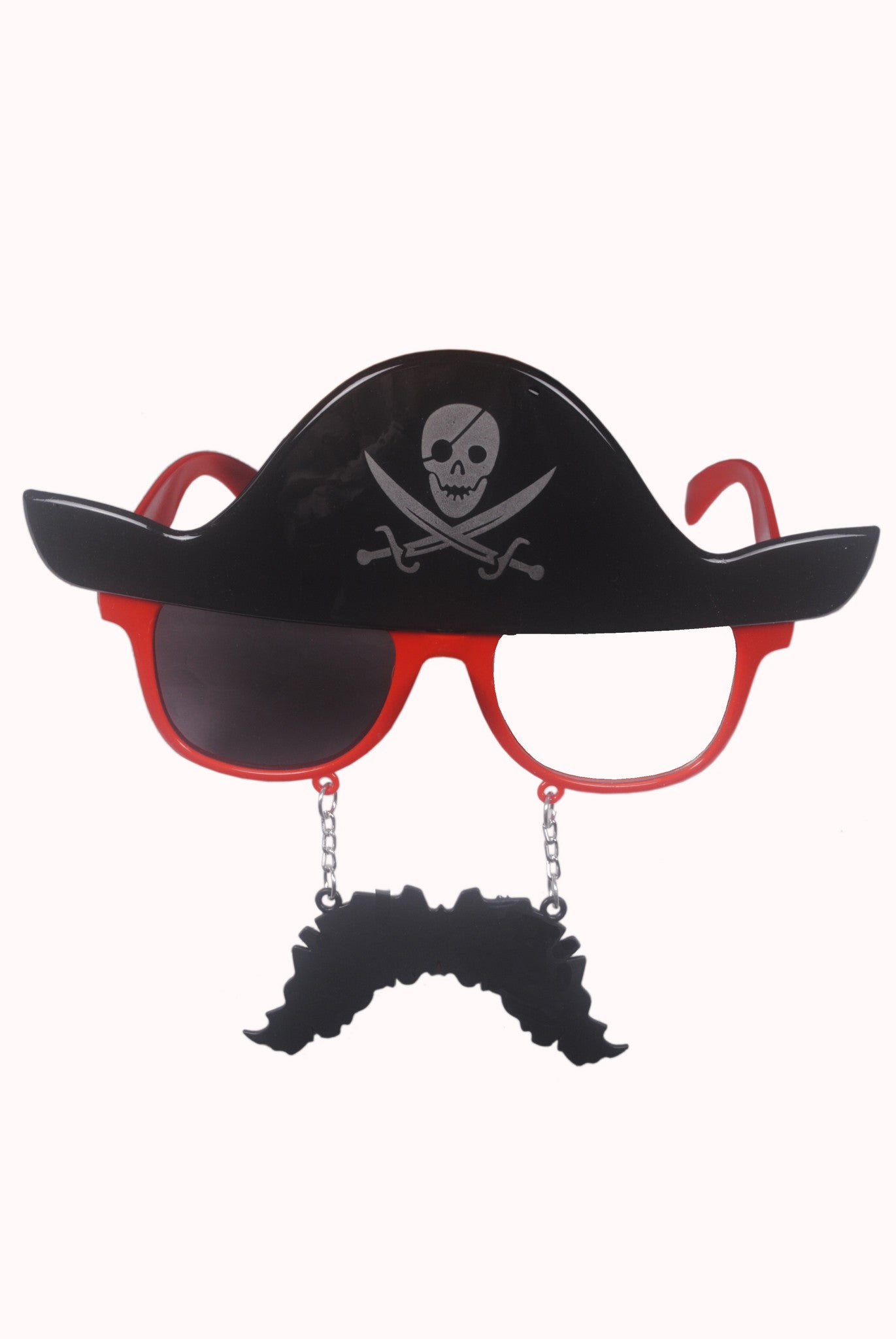 Pirate Moustache Red Goggle