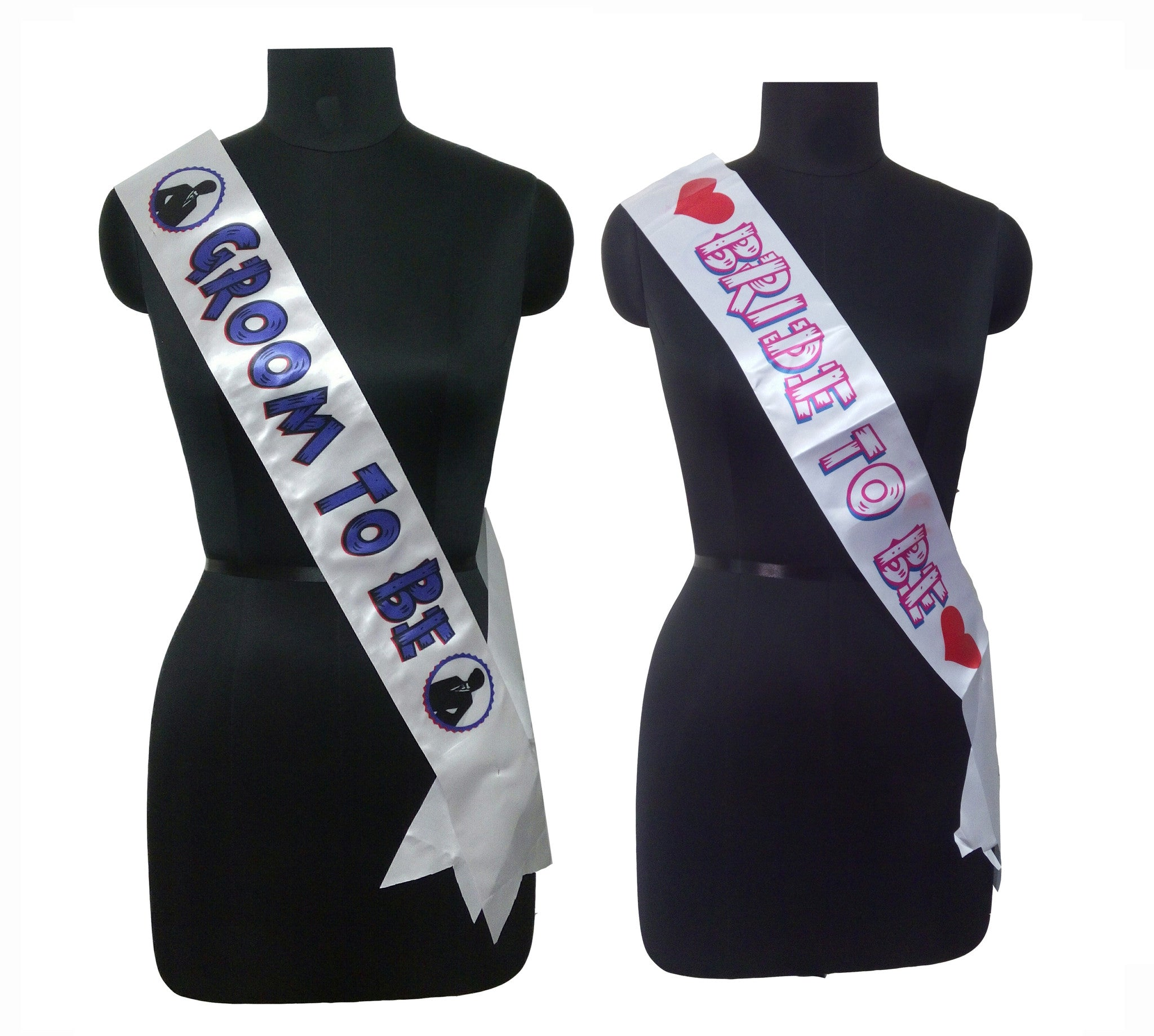 Groom And Bride Sashes Combo