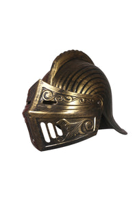 Cosplay Spartan Adult Viking Warrior Costume Golden Helmet with Face Flap