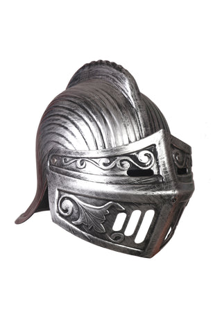 Cosplay Spartan Adult Viking Warrior Costume Silver Helmet with Face Flap by Atpata Funky