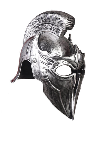 Cosplay Spartan Adult Viking Warrior Costume Helmet Silver