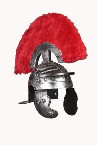 Cosplay Spartan Adult Viking Warrior Costume Helmet with Fur