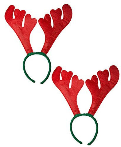 Christmas Reindeer 2 Pcs. Antlers Hairbands