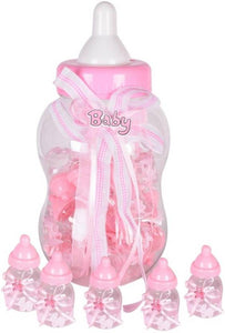 Milk Bottle Shape Mini Bottles 30pcs Set (Pink)