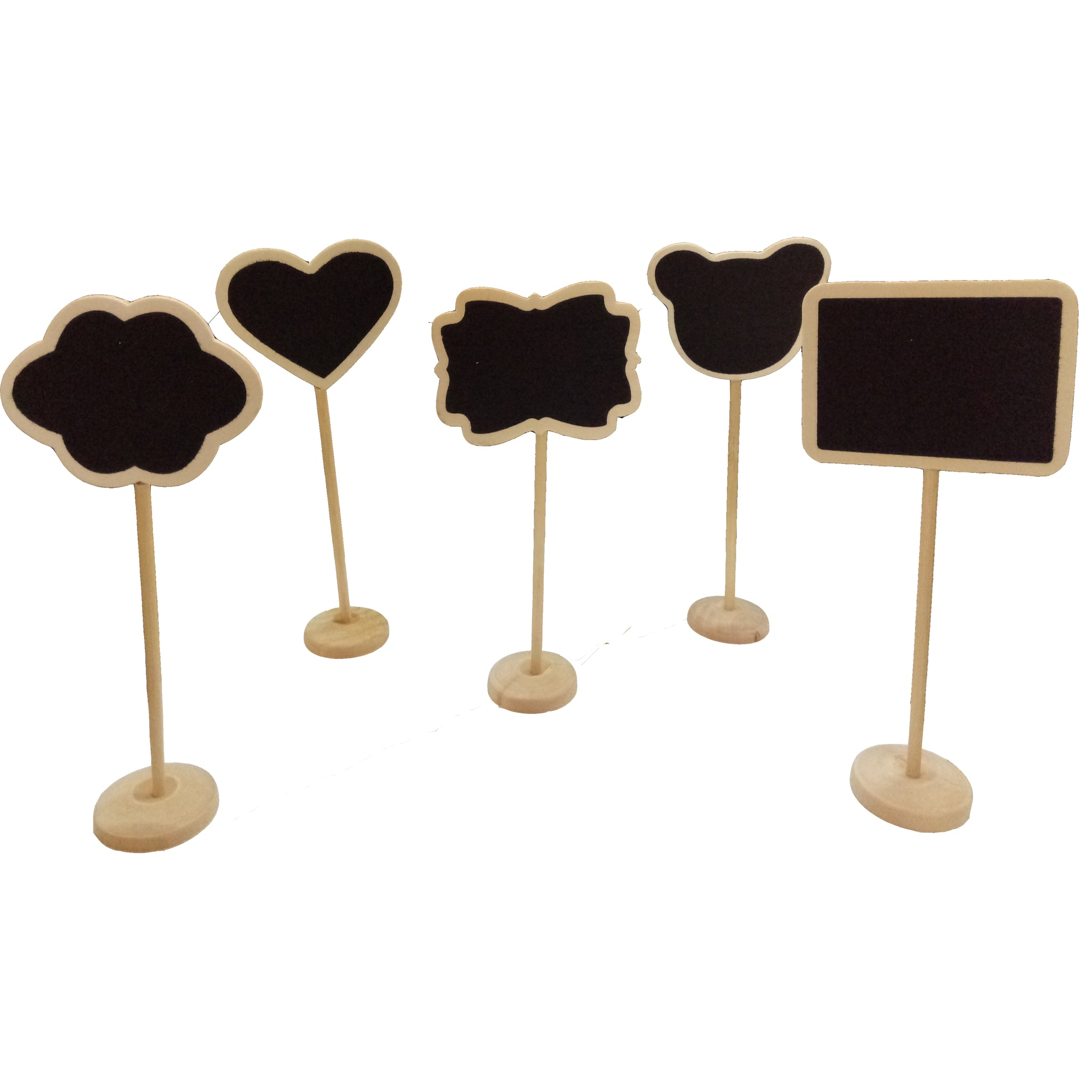 Set of 5 Wooden Mini Chalkboard