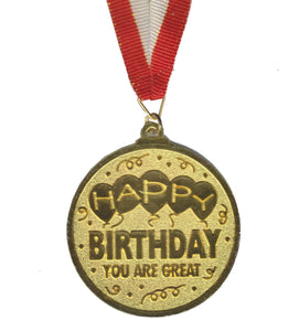 Atpata Funky Happy Birthday Gold Medal