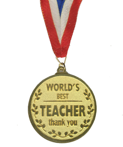 Atpata Funky World's Best TEACHER Gold Medal