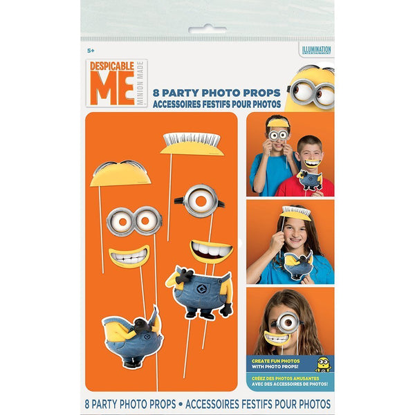 Despicable Me Minions Photo Booth Props Placard Sticks (8 pcs.)