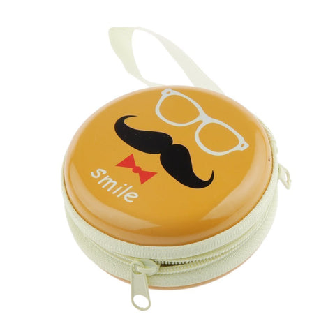 Smile (Yellow) Earphone Pouch