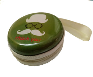 Thank You (Green) Earphone Pouch