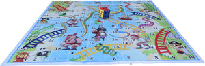 10x10 Ft Snakes & Ladders (Pirate Theme) Floor Mat with 8 inch Dice