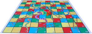 10x10 Ft Snakes & Ladders (Regular Theme) Floor Mat with 8 inch Dice