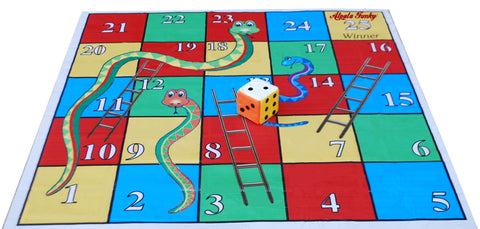 5x5 Ft. Snakes & Ladders Floor Mat with 8 inch Dice