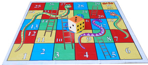 6x6 Ft Snakes & Ladders Floor Mat with 6 inch Dice