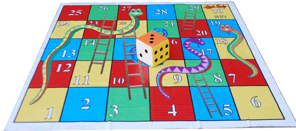 6x6 Ft Snakes & Ladders Floor Mat with 8 inch Dice
