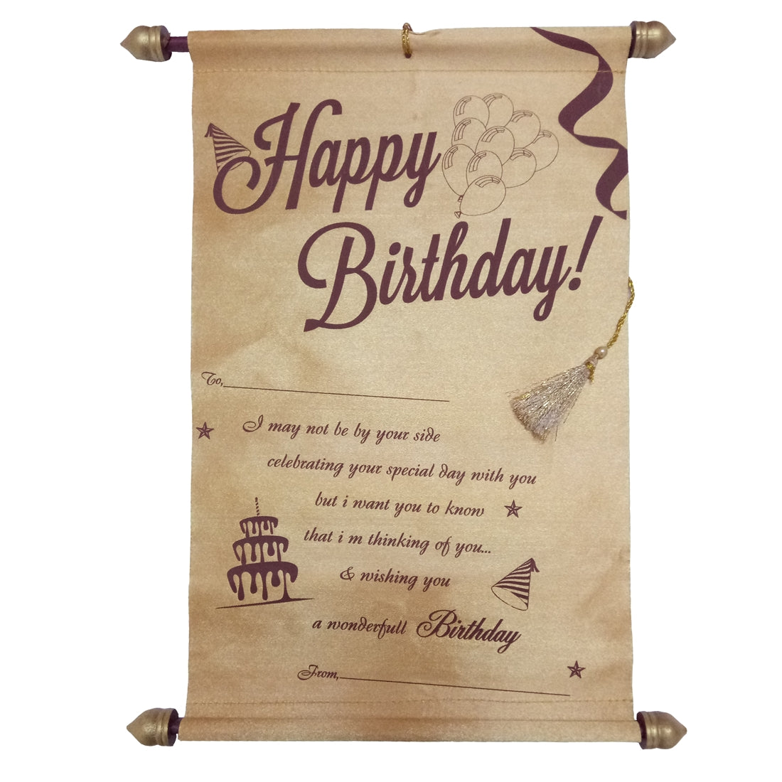 Happy Birthday Message Scroll