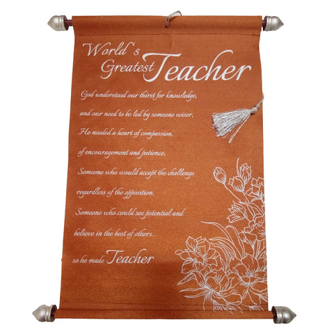 Teacher Message Scroll