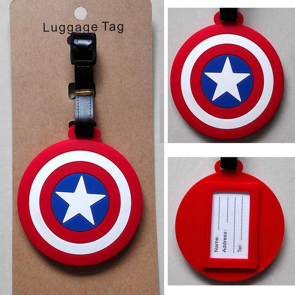 Captain America Shield Luggage Tag
