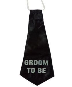 Groom To Be Black 17 inch Tie