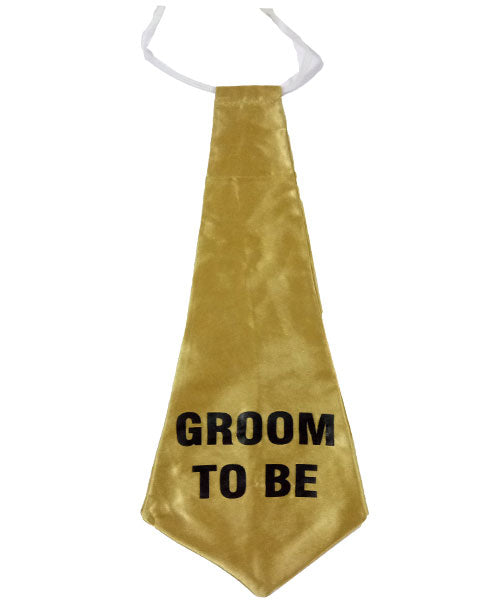 Groom To Be Golden 17 inch Tie
