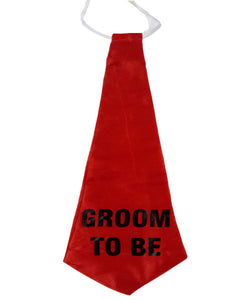 Groom To Be Red 17 inch Tie