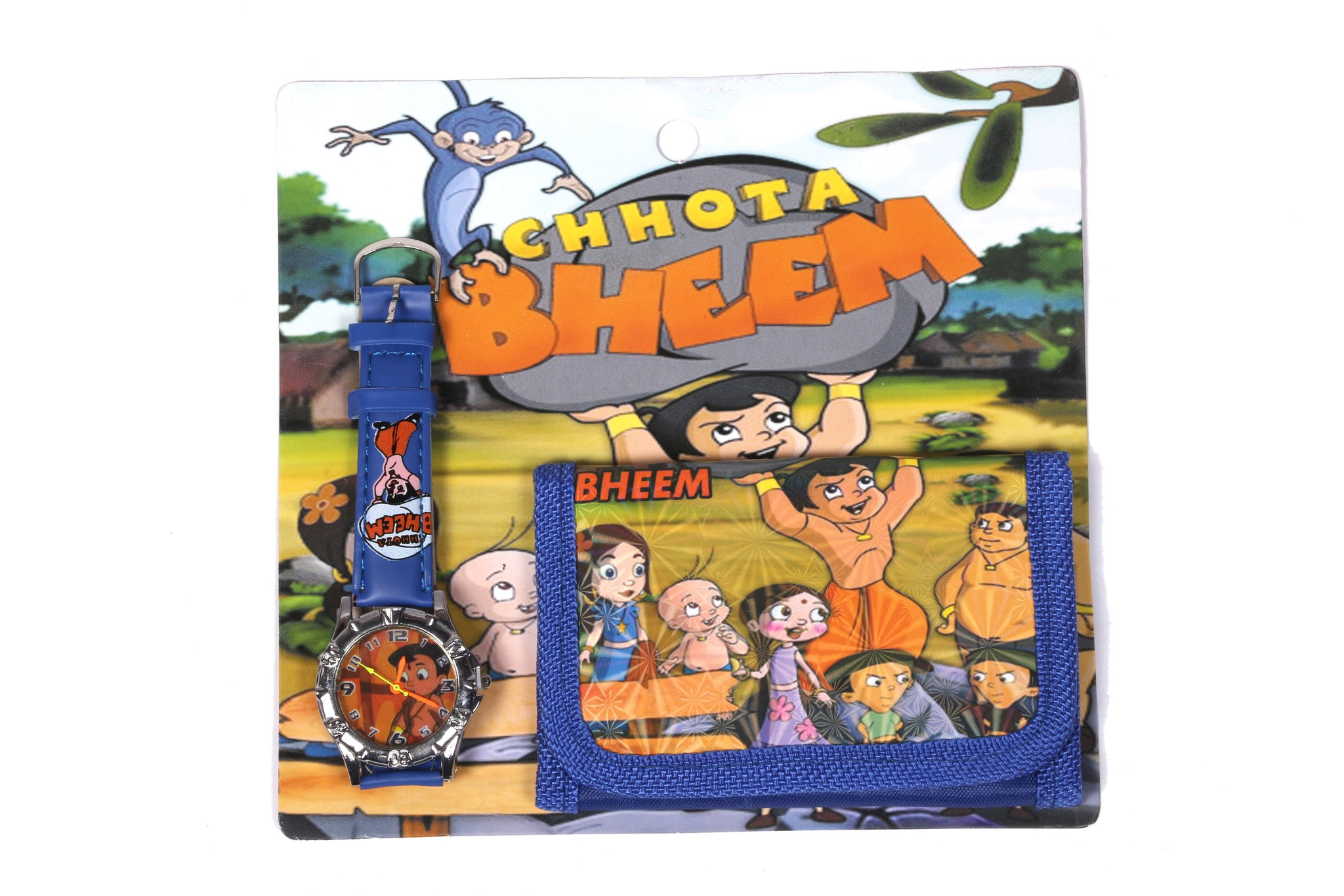Chhota Bheem Analog Watch and Designer Wallet Combo