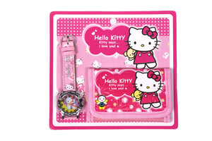 Hello Kitty Analog Watch and Designer Wallet Combo