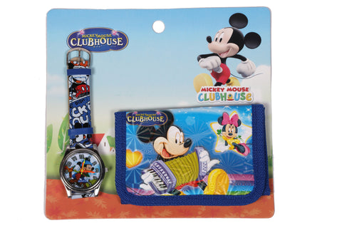 Mickey Mouse Analog Watch and Designer Wallet Combo