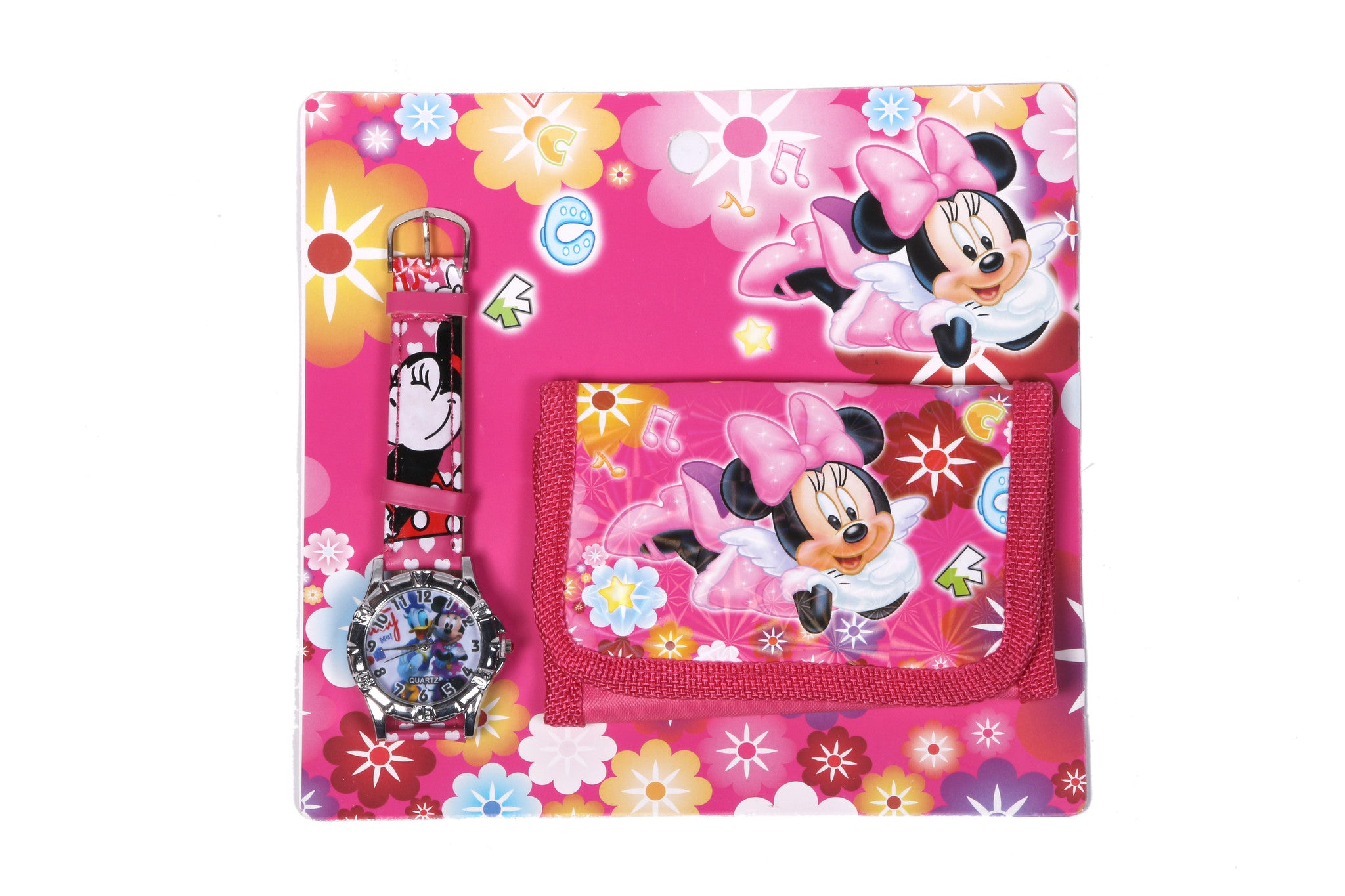 Minnie Mouse Analog Watch and Designer Wallet Combo