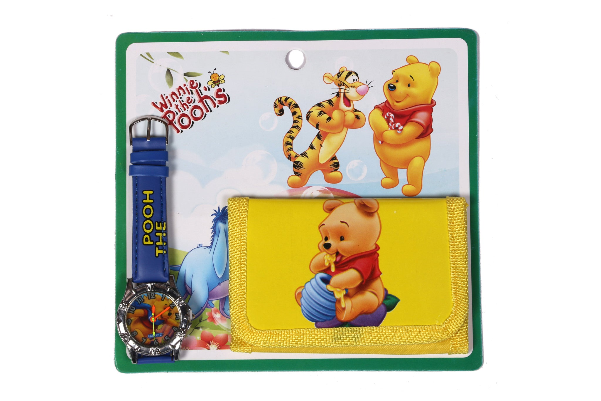 Pooh Analog Watch and Designer Wallet Combo