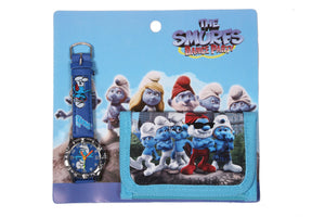 The Smurfs Analog Watch and Designer Wallet Combo