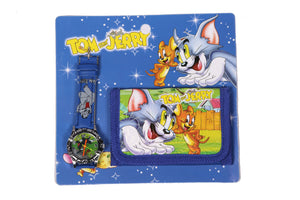 Tom and Jerry Analog Watch and Designer Wallet Combo