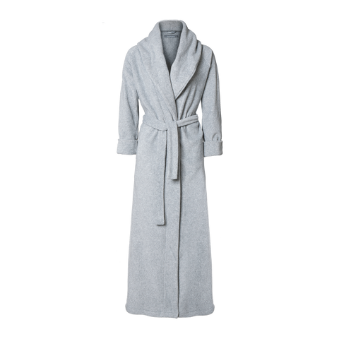 KARMAMEJU -  MOUNT EVEREST / FLEECE BATHROBE COLOUR / Light grey Str. Medium