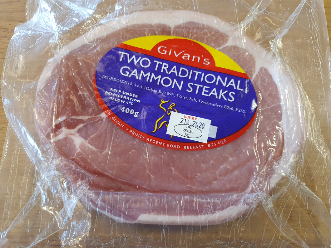 JH Givan Traditional Gammon Steaks - Pack of 2