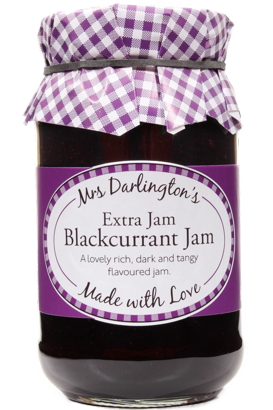 Mrs Darlingtons Extra Jam Blackcurrant Jam